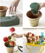 5 cách cắm hoa để bàn đẹp trang trí nhà đón hè