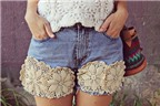 5 cách làm mới chiếc quần short cũ