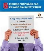 6 phương pháp nâng cao kỹ năng giải quyết vấn đề