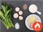 Biến Tấu Với Món Trứng Chiên Nấm Cải Bó Xôi