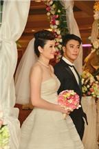 Bí quyết chọn váy cưới che bụng bầu của Sao Việt