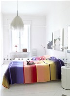 Bí quyết điểm tô màu sắc cho phòng sơn trắng
