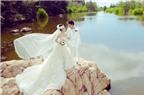 Bí quyết phối hợp trang phục cô dâu chú rể khi chụp ảnh ngoại cảnh