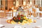 Bí quyết tạo điểm nhấn với hoa trên bàn tiệc