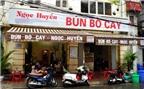 Bún pín bò nổi tiếng ngon ở phố Hòa Mã