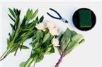 Cách cắm hoa bằng đĩa trang trí bàn ăn tuyệt đẹp