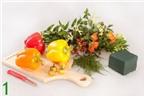 Cách cắm hoa với quả ớt chuông tuyệt đẹp