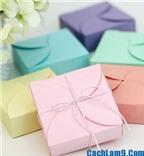 Cách gấp hộp quà bằng giấy xinh xắn làm quà tặng