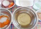Cách làm bánh bông lan trứng muối sốt kem cực ngon