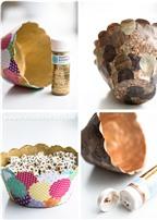Cách làm bát giấy handmade đựng đồ xinh xắn để bàn