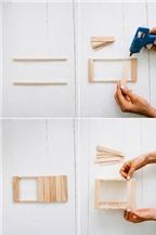 Cách làm bình hoa gỗ từ que kem cực đơn giản