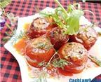Cách làm cà chua nhồi thịt thơm ngon, đẹp mắt