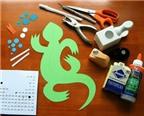 Cách làm con thằn lằn handmade kiểu 3D khiến bé thích mê