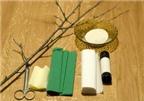 Cách làm hoa anh đào bằng giấy nhún trang trí nhà đón Tết