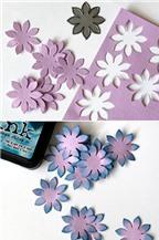 Cách làm hoa bằng giấy đơn giản trang trí thiệp tặng mẹ yêu