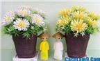 Cách làm hoa cúc giấy gợn đơn giản mà đẹp lung linh