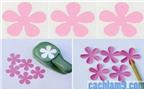 Cách làm hoa hồng bằng giấy bìa – Làm hoa handmade