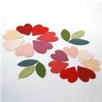 Cách làm hoa vải ấm áp và lãng mạn cho ngày Valentine