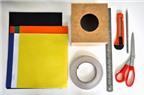 Cách làm hộp đựng giấy ăn hình khối rubik bày Tết