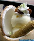 Cách làm kem dừa ngon, đơn giản tại nhà
