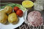 Cách làm khoai tây xào thịt băm cực ngon