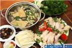 Cách làm lẩu gà nấm, ngải cứu siêu ngon và dễ ăn