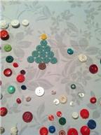 Cách làm thiệp Giáng sinh từ cúc áo