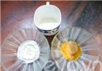 Cách làm trắng da bằng sữa tươi, bột nghệ