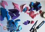 Cách làm tranh 3D hình trái tim hoa đẹp lung linh