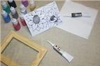 Cách làm tranh kính trang trí nhà rực rỡ đón Tết về