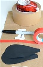 Cách làm túi giấy đựng quà hình chú cún ngộ nghĩnh