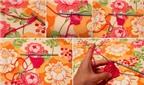 Cách móc khăn xinh yêu tặng bé đầu năm mới