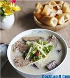 Cách nấu cháo tiết lợn ngon ngọt đậm đà