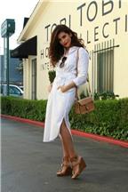 Cách phối đồ với áo váy sơ mi sành điệu như fashionista