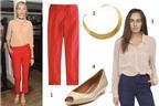 Cách phối đồ với quần jeans đỏ
