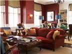 Cách phối gam màu đỏ mận trang trí cho nhà đẹp