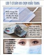 Cách sử dụng và bảo quản khẩu trang