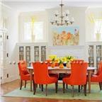 Cách trang trí nhà với gam màu cam