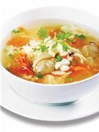 Canh trứng gà nấu hải sản ngon miệng