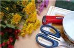 Chị em khéo tay cắm hoa cúc để bàn đẹp trang trí nhà