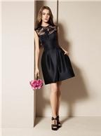 Diện đầm đen thời trang nữ quyến rũ ngày thu