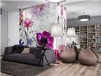 Gợi ý trang trí tường nhà với họa tiết hoa