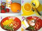 Hoa quả trộn sữa chua kiểu mới