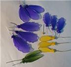 Học cách làm hoa bằng vải voan với mẫu hoa diên vỹ
