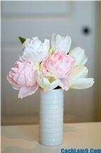 Hướng dẫn cách làm hoa mẫu đơn bằng giấy đẹp lung linh