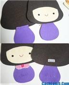 Hướng dẫn làm búp bê thời trang bằng giấy
