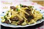 Làm sao để nấu món Măng tươi xào thịt bò.