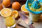 Làm sao để pha nước cam không bị đắng