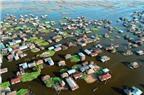 Ngôi làng trên hồ độc đáo ở châu Phi