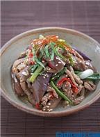 Ngon cơm với cách làm thịt bò trộn cà tím